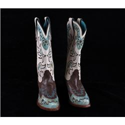 Tony Lama Womens Fancy Cowboy Boots