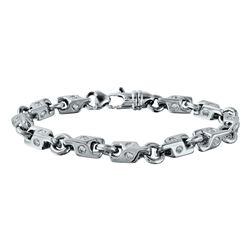4.03 CTW Diamond Bracelet 14K White Gold - REF-496M2F