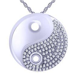 0.14 CTW Diamond Necklace 14K White Gold - REF-23K3W