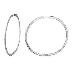 1.36 CTW Diamond Earrings 14K White Gold - REF-107H2M