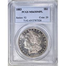 1883 MORGAN DOLLAR PCGS MS-63 DMPL
