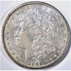 1886-S MORGAN DOLLAR, AU/ BU