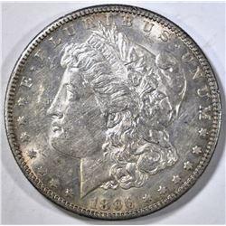 1896-S MORGAN DOLLAR AU/BU LOOKS BU