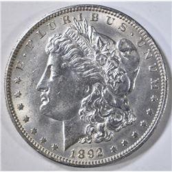 1892-O MORGAN DOLLAR, CH BU