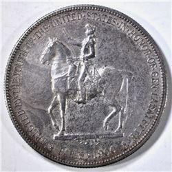 1900 LAFAYETTE DOLLAR, AU TONED
