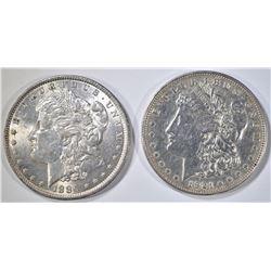 1886 & 1921 MORGAN DOLLARS AU/BU