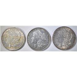 3-NICE CIRC MORGAN DOLLARS: