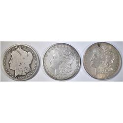 3-CIRC MORGAN DOLLARS: