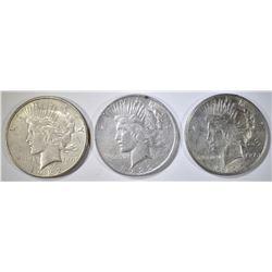3-CIRC PEACE DOLLARS