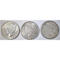 1922, 23 & 23-S CIRC PEACE DOLLARS