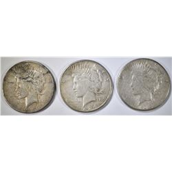 1923, 1923-S & 26-S CIRC PEACE DOLLARS