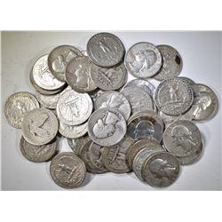 $10.00 FACE VALUE 90% SILVER WASHINGTON QUARTERS