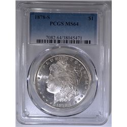1878-S MORGAN DOLLAR  PCGS MS-64