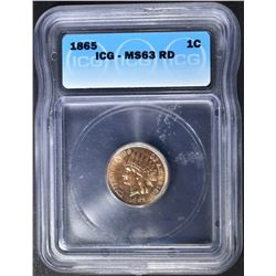 1865 INDIAN CENT  ICG MS-63 RD