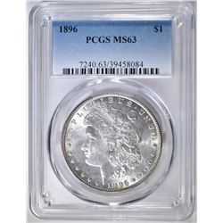 1896 MORGAN DOLLAR  PCGS MS-63