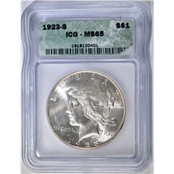 1923-S PEACE DOLLAR  ICG MS-65