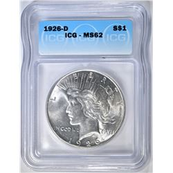 1926-D PEACE DOLLAR  ICG MS-62