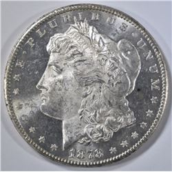 1878-S MORGAN DOLLAR, CH BU PROOF LIKE