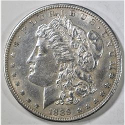 1889-S MORGAN DOLLAR  AU/BU