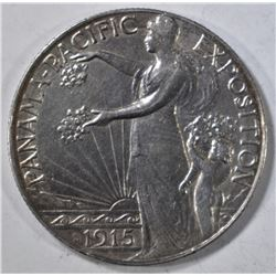 1915-S PAN PAC COMMEM HALF DOLLAR  AU