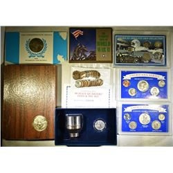 COLLECTORS LOT WITH SOME SILVER; WWII COLLECTION