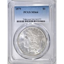 1879 MORGAN DOLLAR  PCGS MS-64