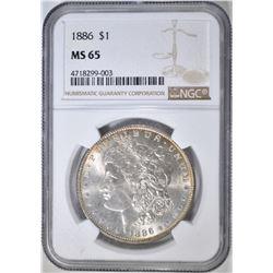 1886 MORGAN DOLLAR  NGC MS-65