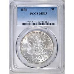 1898 MORGAN DOLLAR  PCGS MS-63