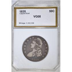 1835 BUST HALF DOLLAR  PCI VG