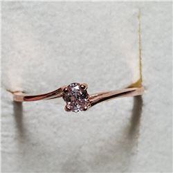 14K ROSE GOLD DIAMOND RING SIZE 6.5
