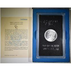 1878-CC MORGAN DOLLAR GSA BOX AND CERT