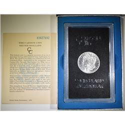1883-CC MORGAN DOLLAR GSA BOX AND CERT