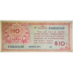 $10 SERIES 471 MILITARY PAYMENT NOTE