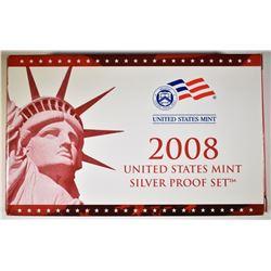 2008 U.S. SILVER PROOF SET IN ORIG PACKAGING