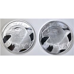 2-PLEDGE OF ALLEGIANCE ONE OUNCE SILVER ROUNDS