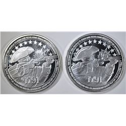 2-2nd AMENDMENT ONE OUNCE SILVER ROUNDS