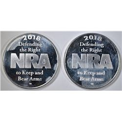 2-NRA ONE OUNCE .999 SILVER ROUNDS