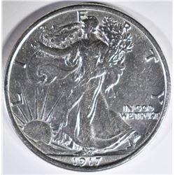 1917 WALKING LIBERTY HALF DOLLAR AU/BU