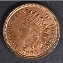 1864 BRONZE INDIAN HEAD CENT GEM BU RB