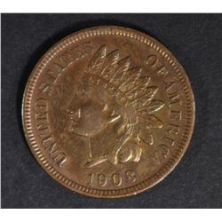 1908-S INDIAN CENT CH BU RB