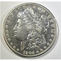 1904-S MORGAN DOLLAR  CH AU