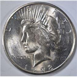 1923-S PEACE DOLLAR  CH BU