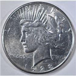 1928-S PEACE DOLLAR, BU