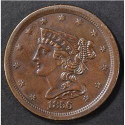 1856 HALF CENT  CH BU