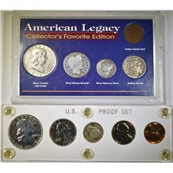 1960 PROOF SET & AMERICAN LEGACY FAVORITES SET