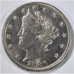 1886 LIBERTY NICKEL AU/BU