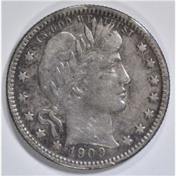 1909-O BARBER QUARTER XF