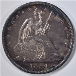 1851 SEATED LIBERTY HALF DOLLAR BU