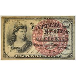 10c FRACTIONAL NOTE XF 4TH ISSUE