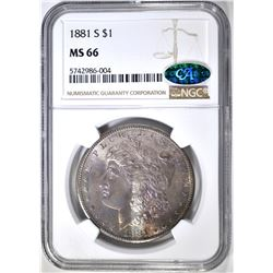 1881-S MORGAN DOLLAR NGC MS-66 CAC